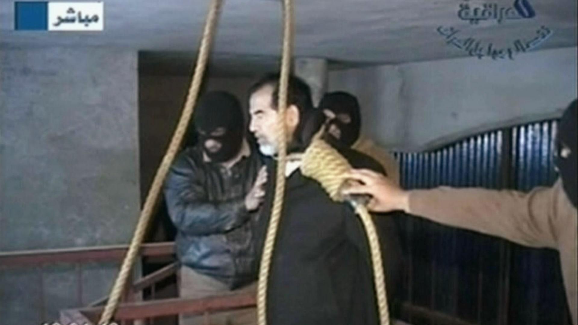 لحظة إعدام الرئيس العراقي الأسبق صدام حسين