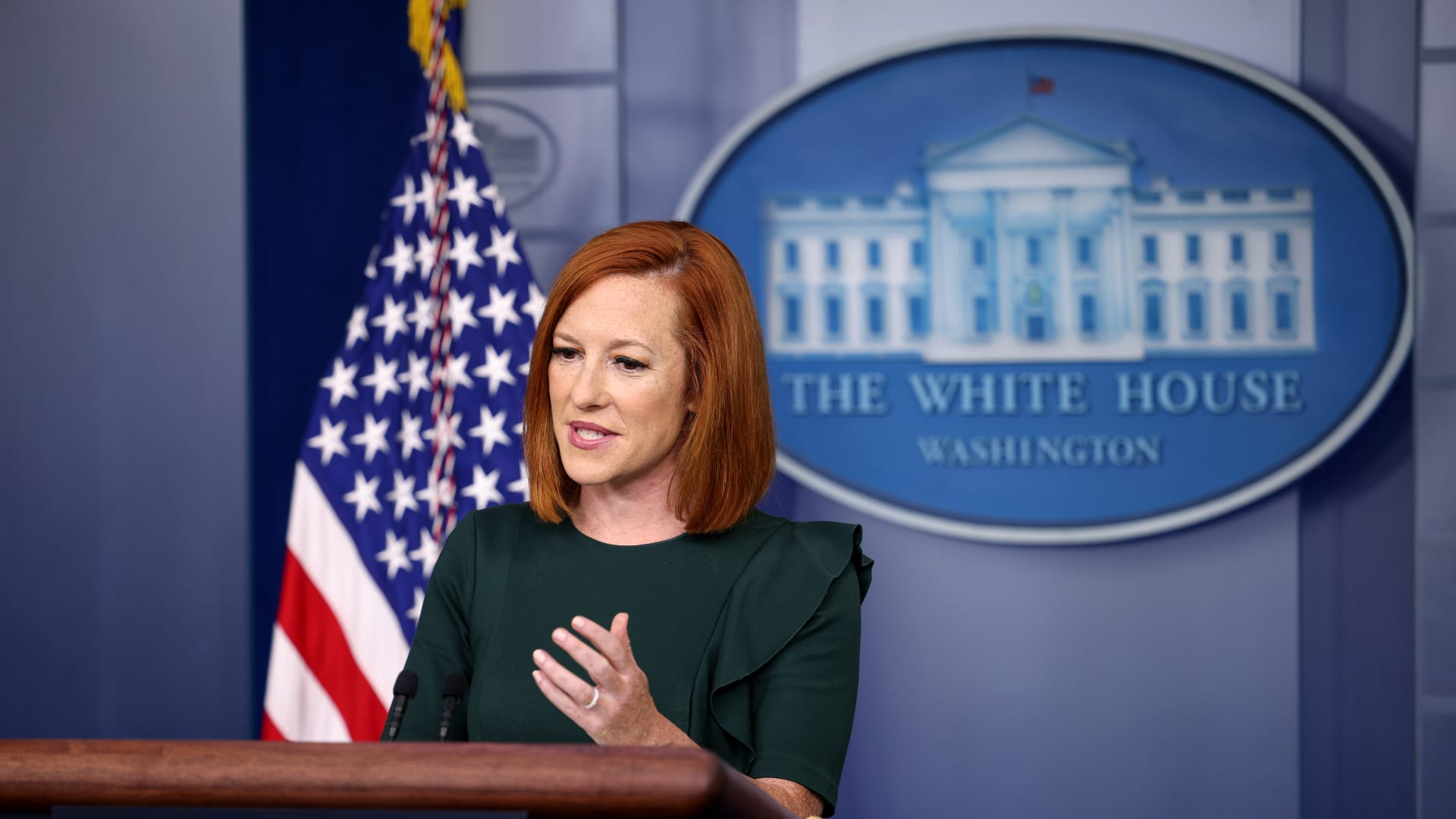 المتحدثة باسم البيت الأبيض، جين ساكي