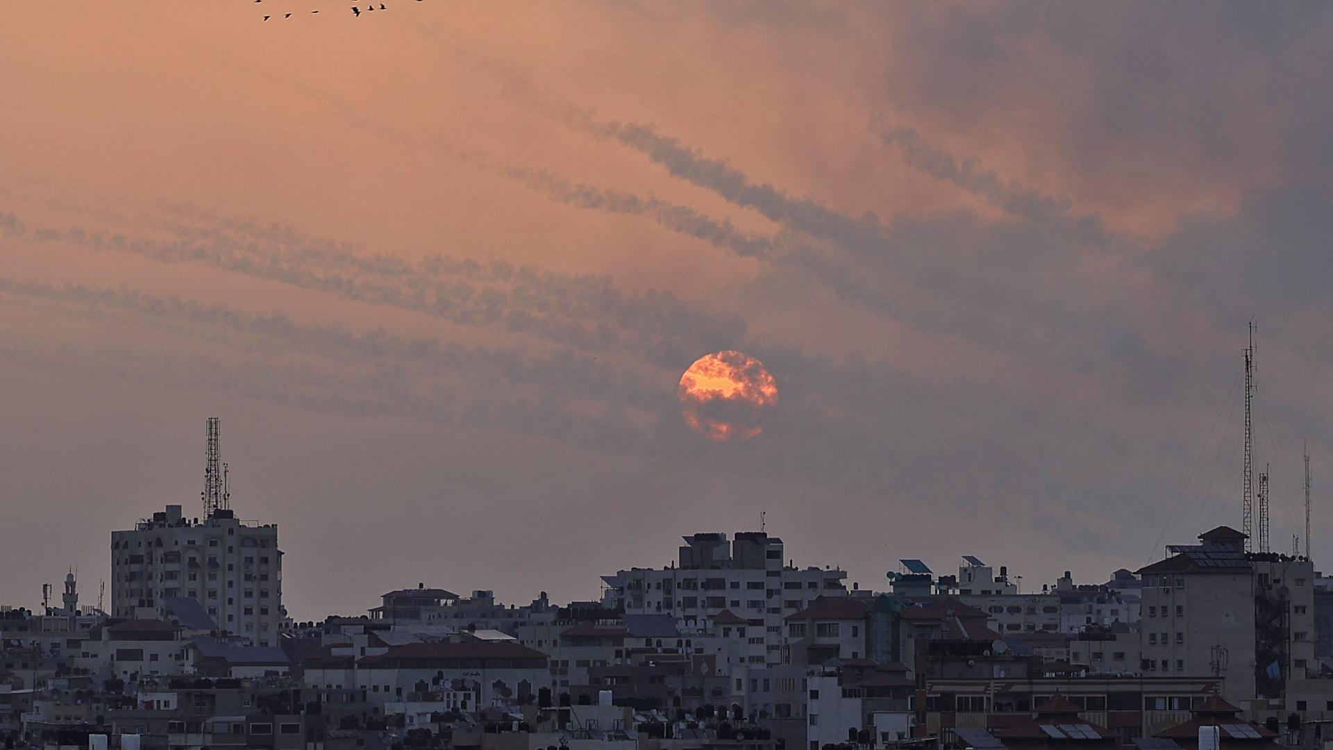 إطلاق صواريخ من قطاع غزة صوب إسرائيل
