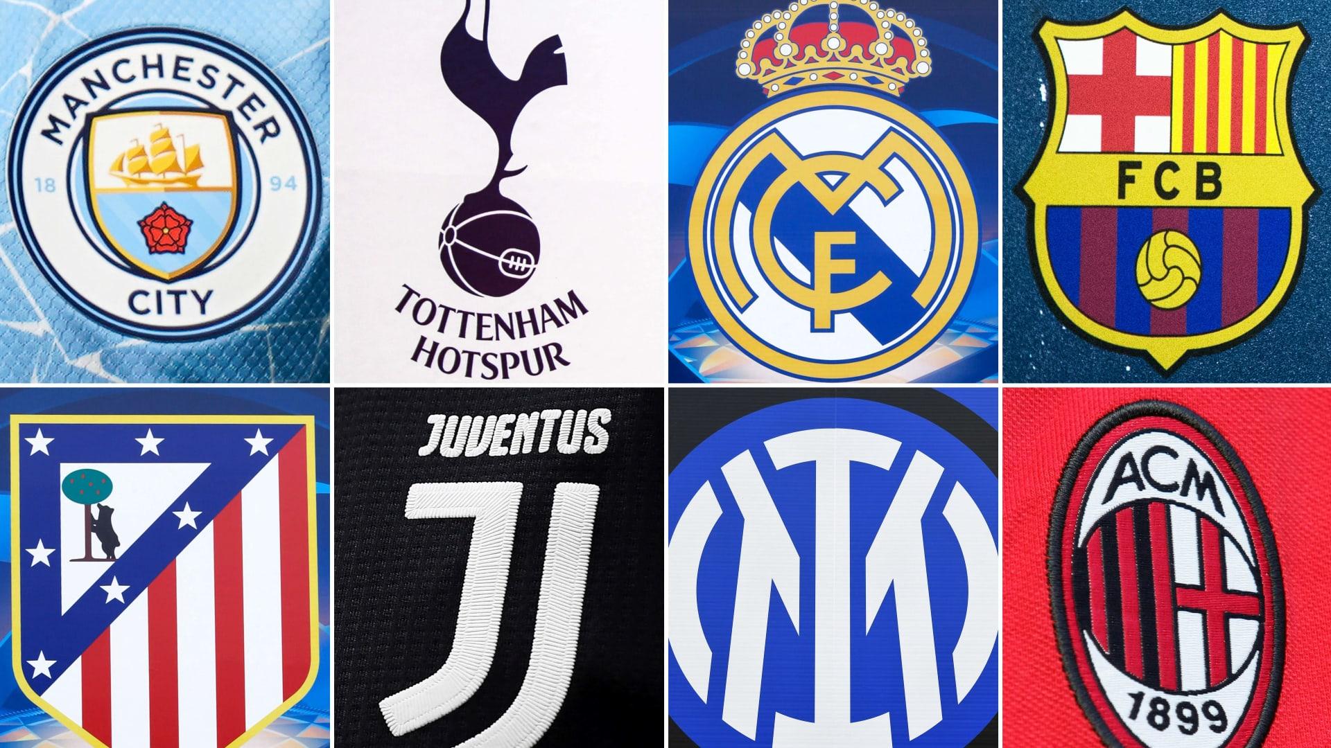"""بيان ثلاثي من ريال مدريد وبرشلونة ويوفنتوس ردا على تهديدات الاتحاد الأوروبي بشأن """"دوري السوبر"""""""