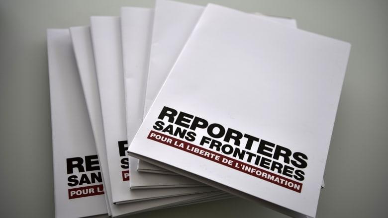 صورة أرشيفية لكتيبات تحمل اسم مراسلون بلا حدود