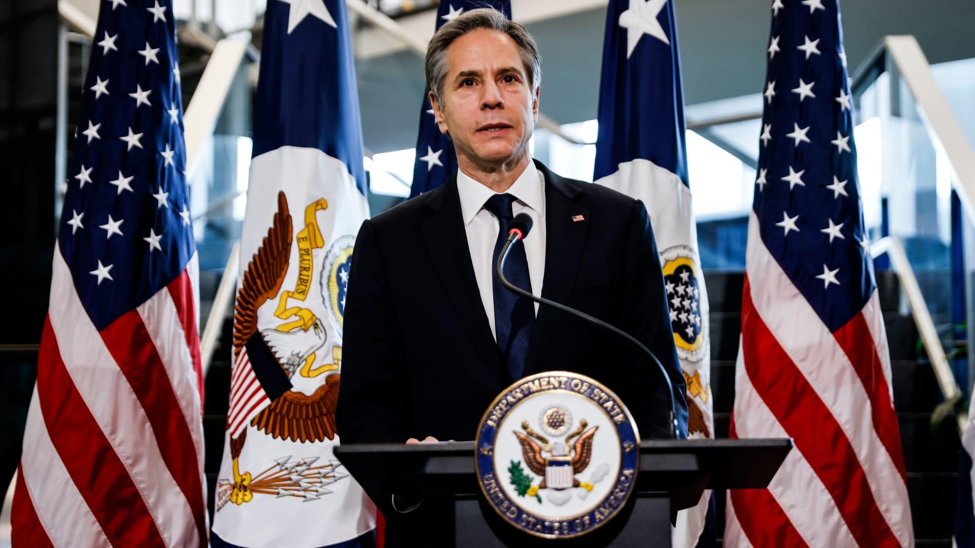 وزير الخارجية الأمريكي، انتوني بلينكن