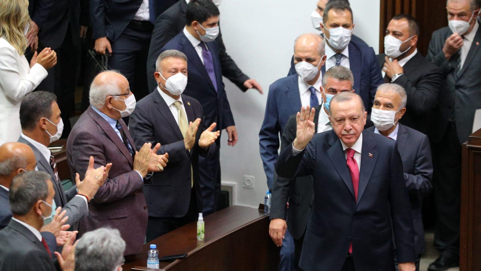 رجب طيب أردوغان في البرلمان التركي