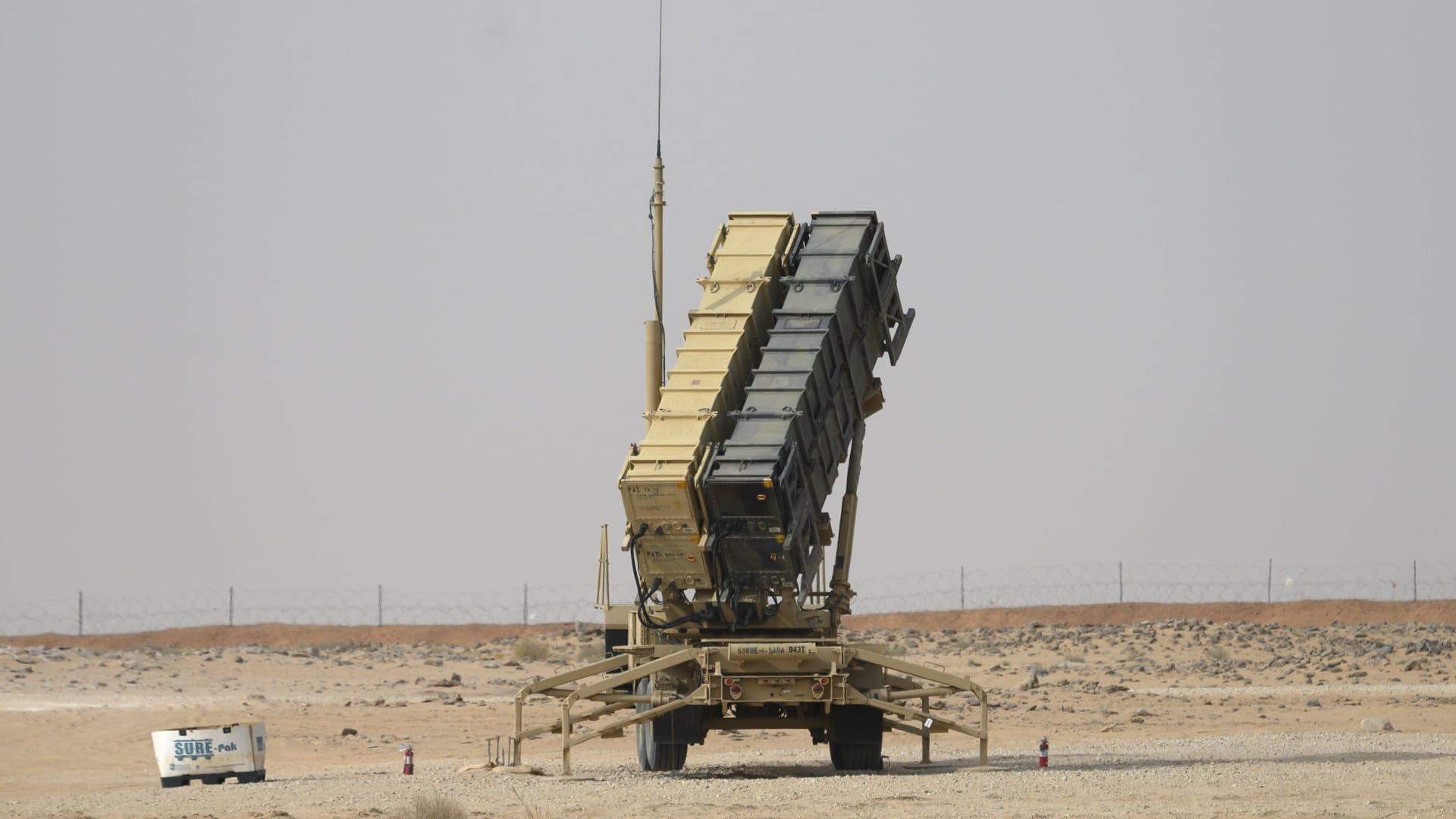 طارية صاروخ باتريوت بالقرب من قاعدة الأمير سلطان الجوية في الخرج - 20 فبراير 2020