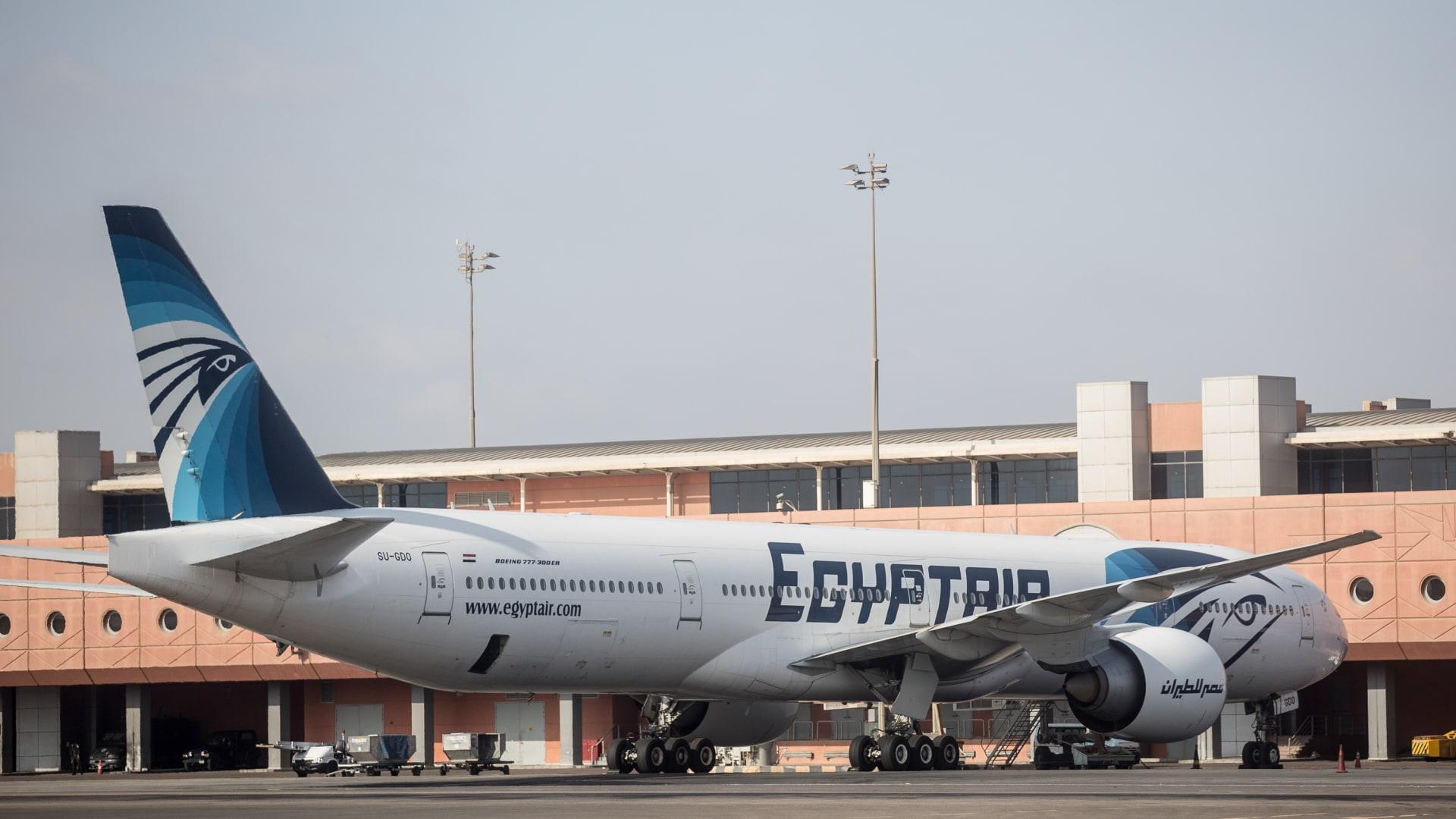 صورة أرشيفية لطائرة تابعة لمصر للطيران