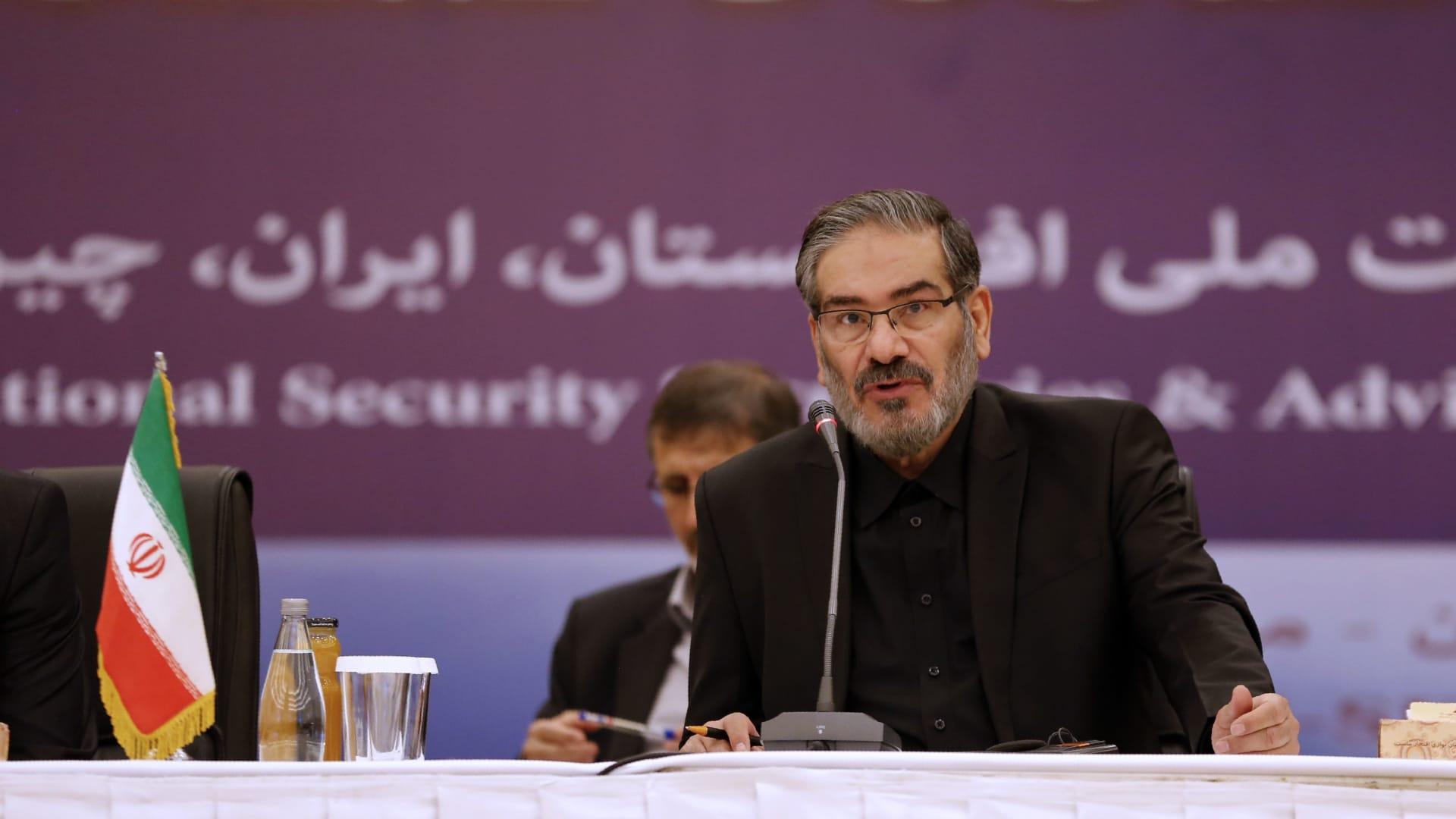 أمين المجلس الأعلى للأمن القومي الإيراني، علي شمخاني