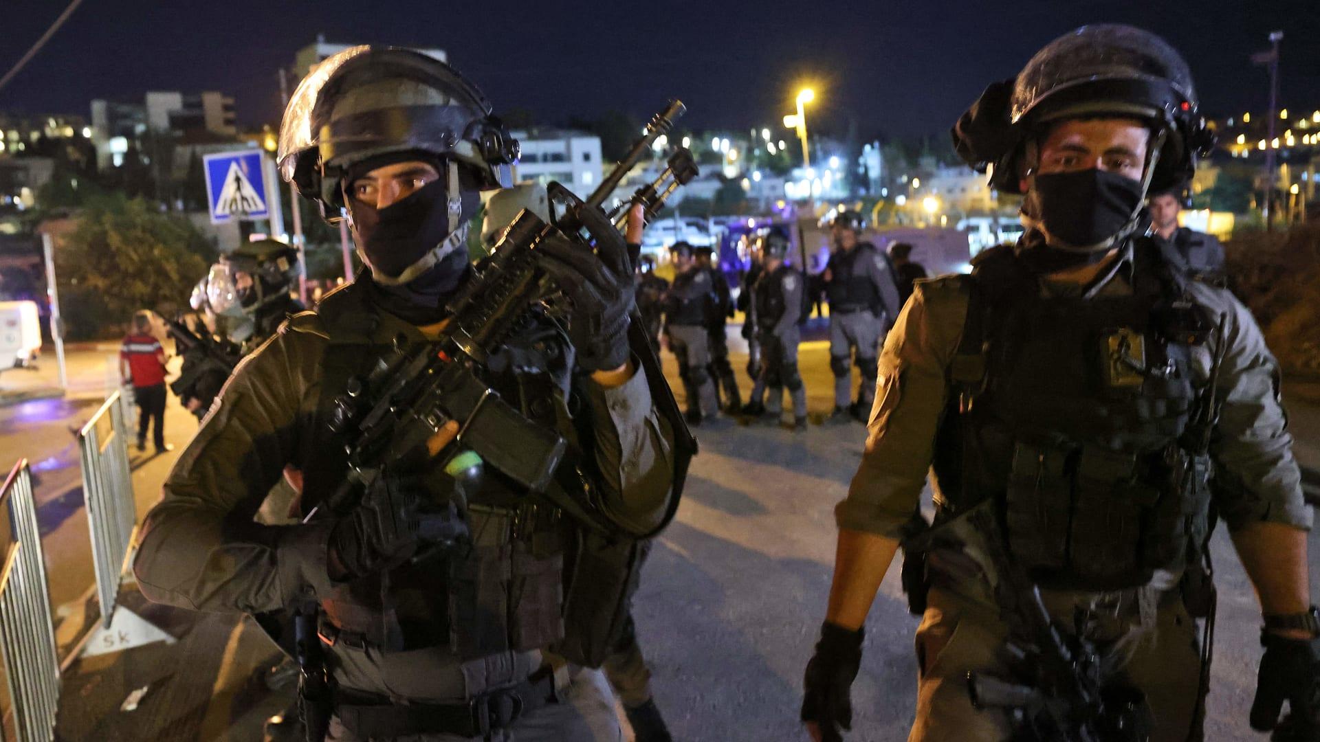 عناصر من قوات مكافحة الشغب الإسرائيلية