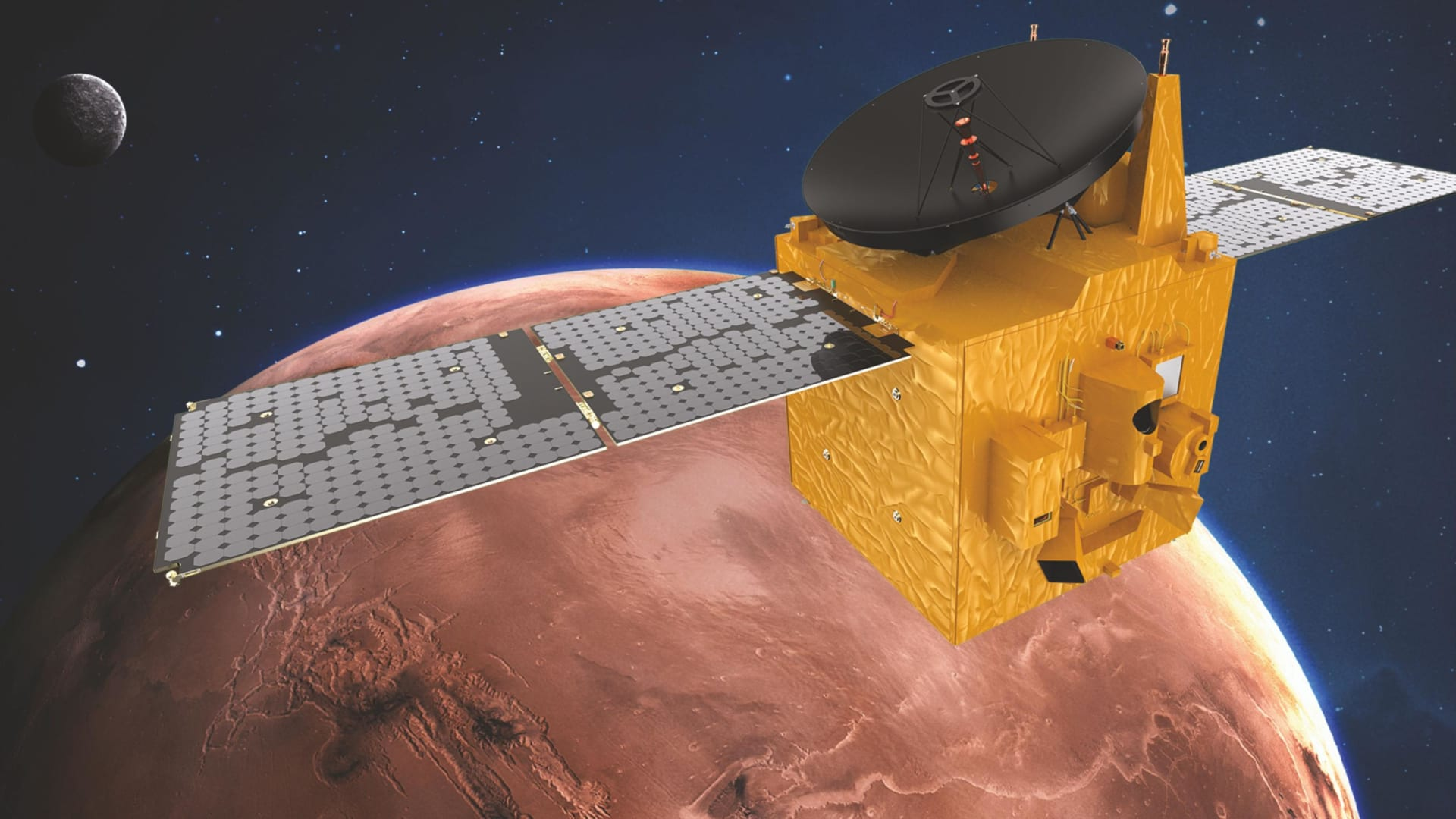 """باقتباس عن المتنبي.. هكذا هنأت """"ناسا"""" مسبار الأمل الإماراتي بعد وصوله إلى المريخ"""
