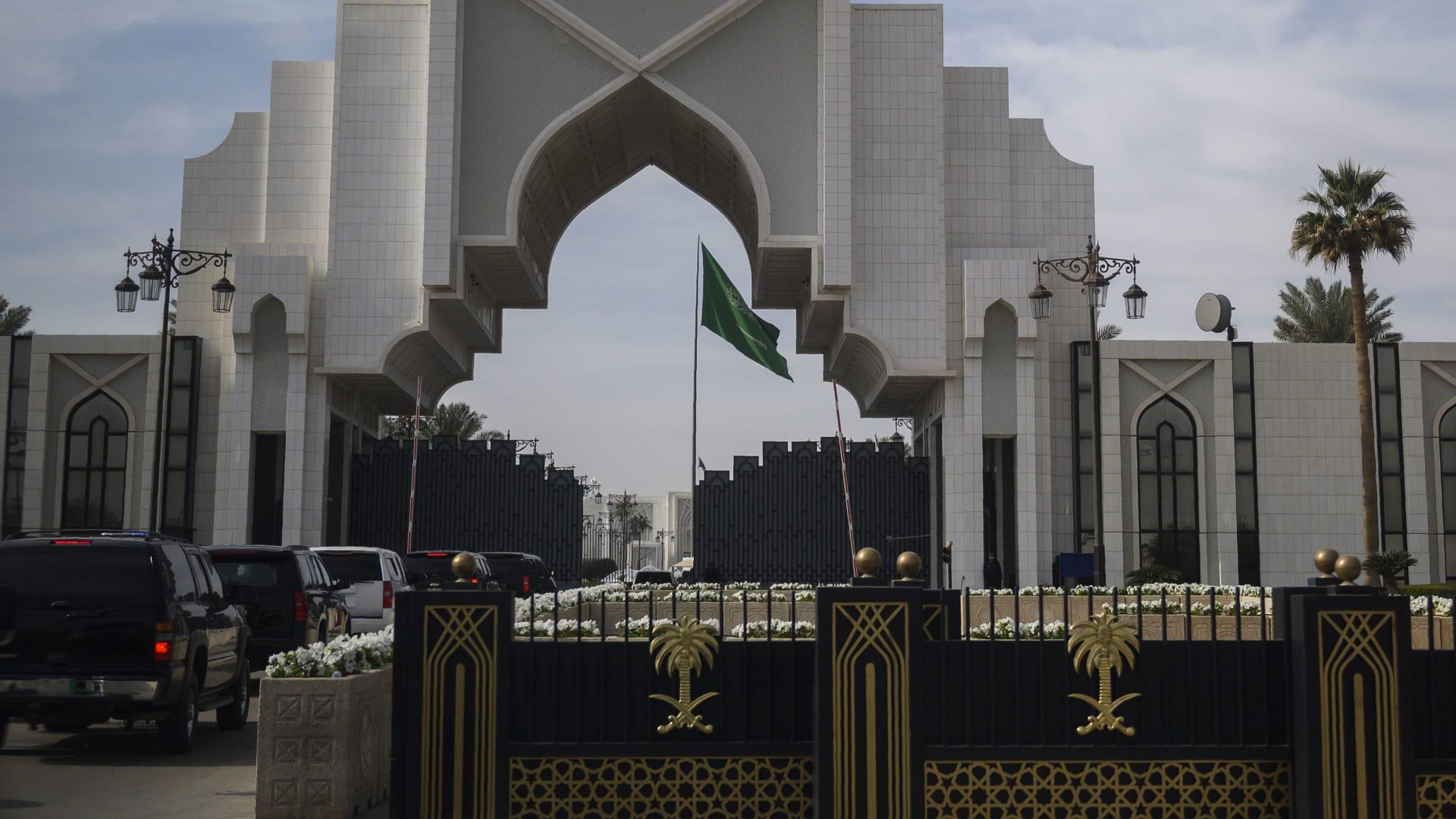 صورة أرشيفية لمدخل الديوان الملكي السعودي