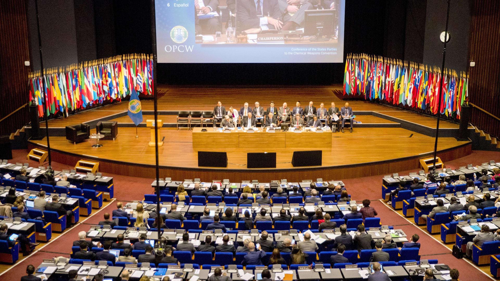 جلسة للدول الأعضاء في منظمة حظر الأسلحة الكيميائية - صورة أرشيفية