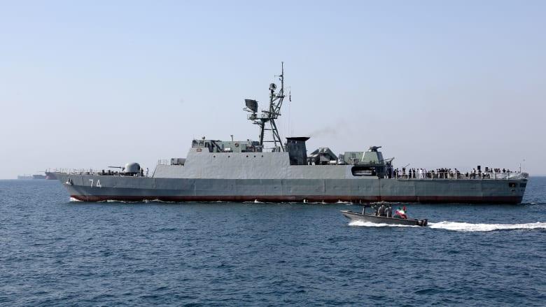 صورة أرشيفية لقطعة بحرية إيرانية