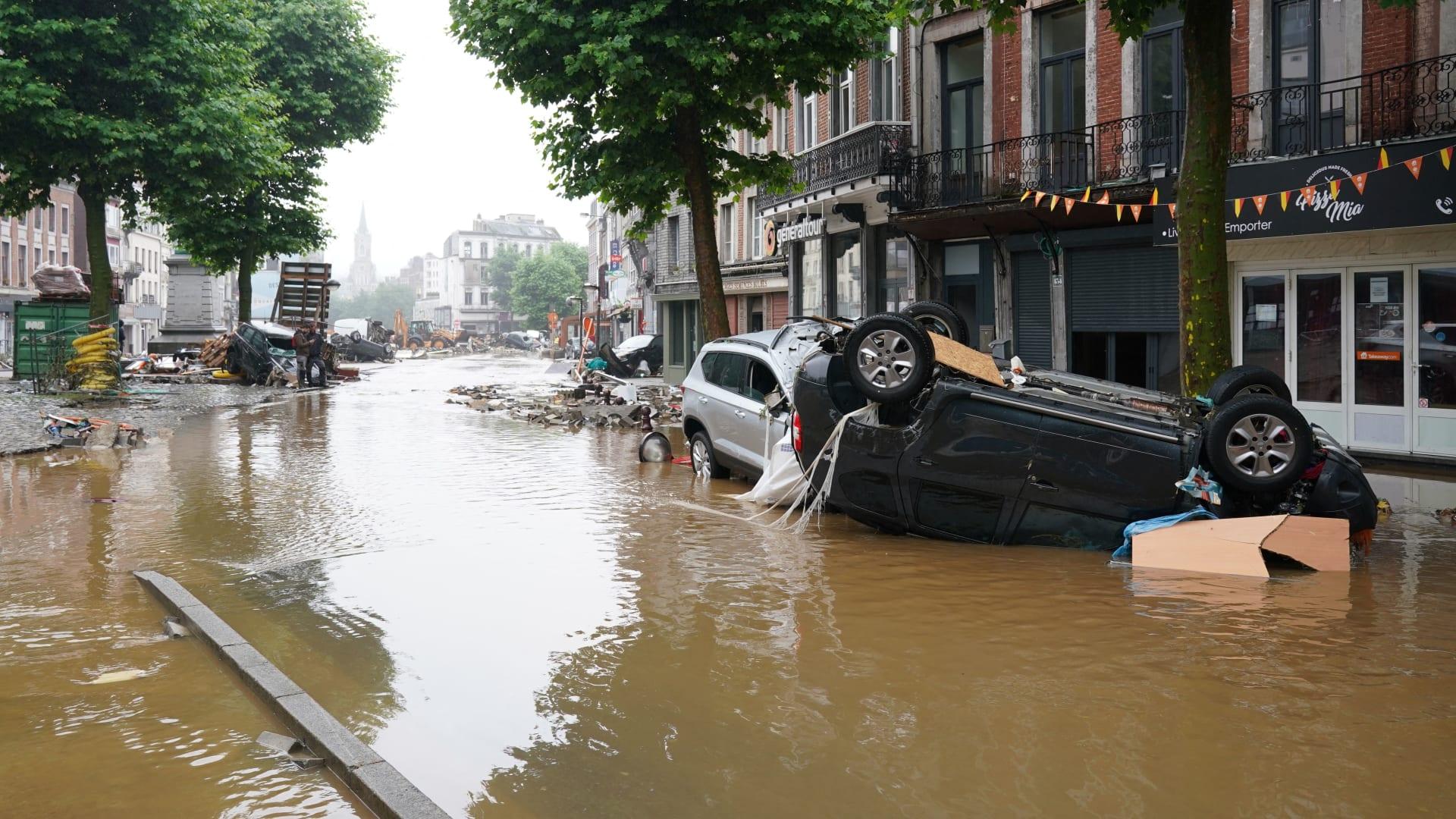 شاهد من الجو.. فيضانات كارثية تضرب ألمانيا وتقتل العشرات