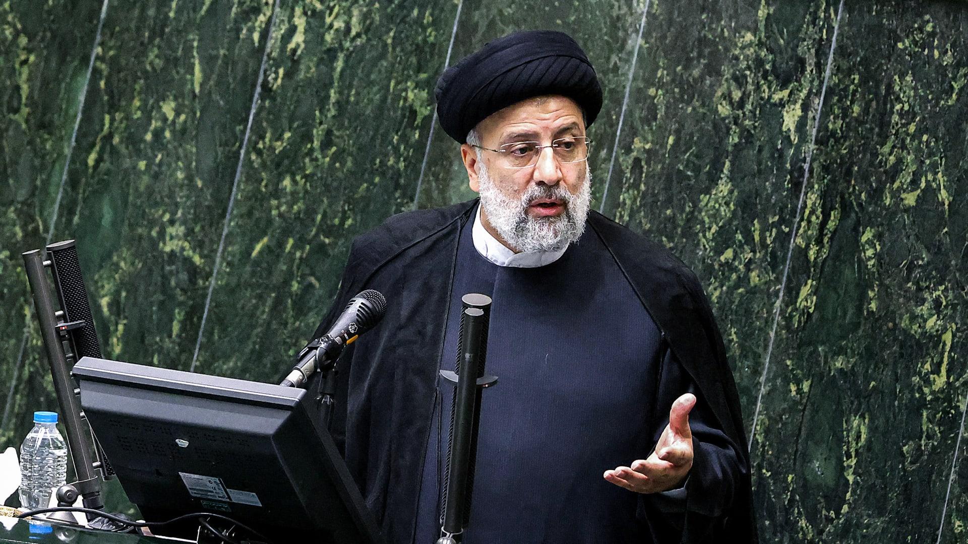 الرئيس الغيراني الجديد ابراهيم رئيسي في كلمة أمام البرلمان