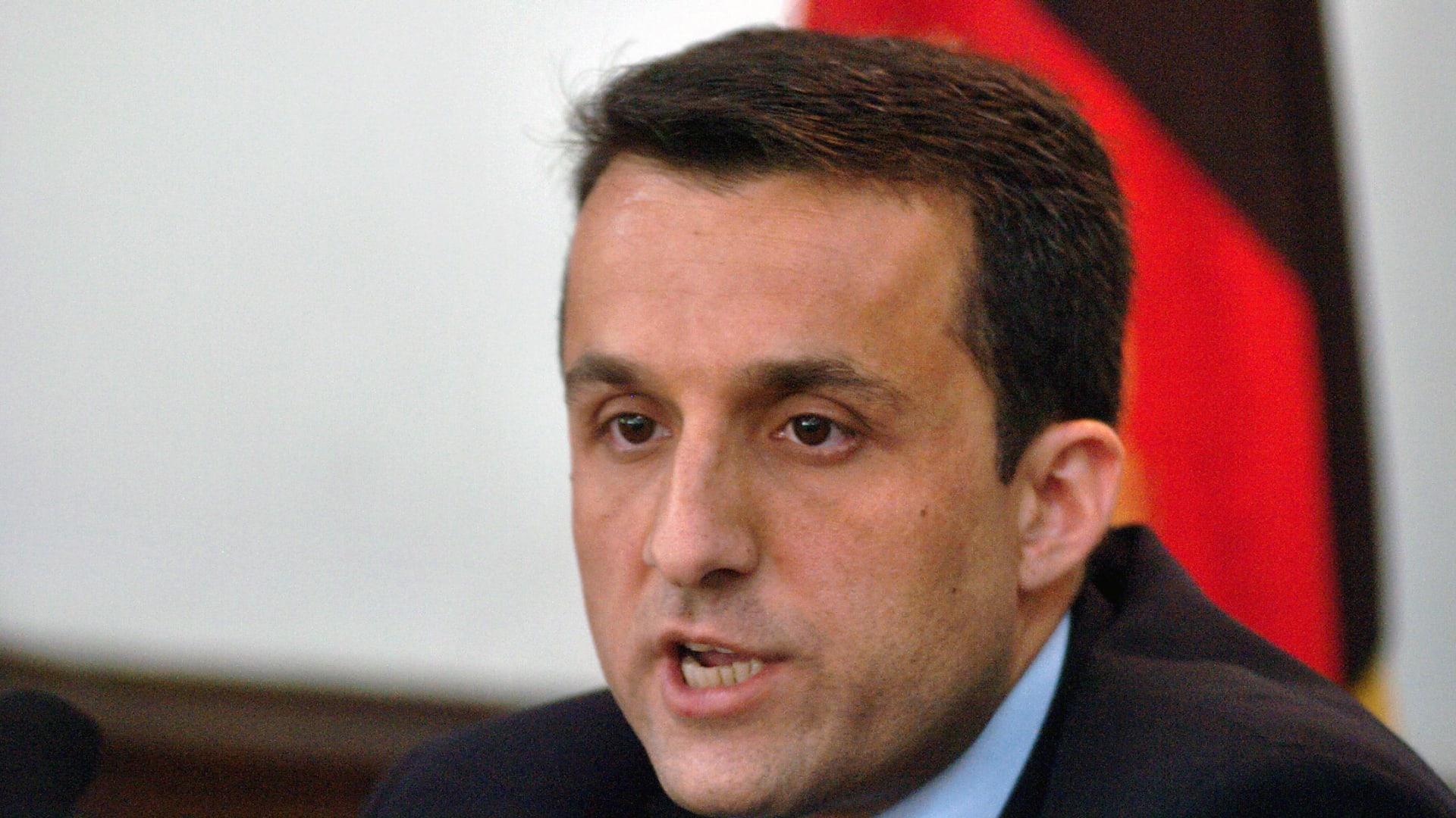 أمر الله صالح يدعو الأفغان للانضمام للمقاومة: أنا الرئيس الشرعي