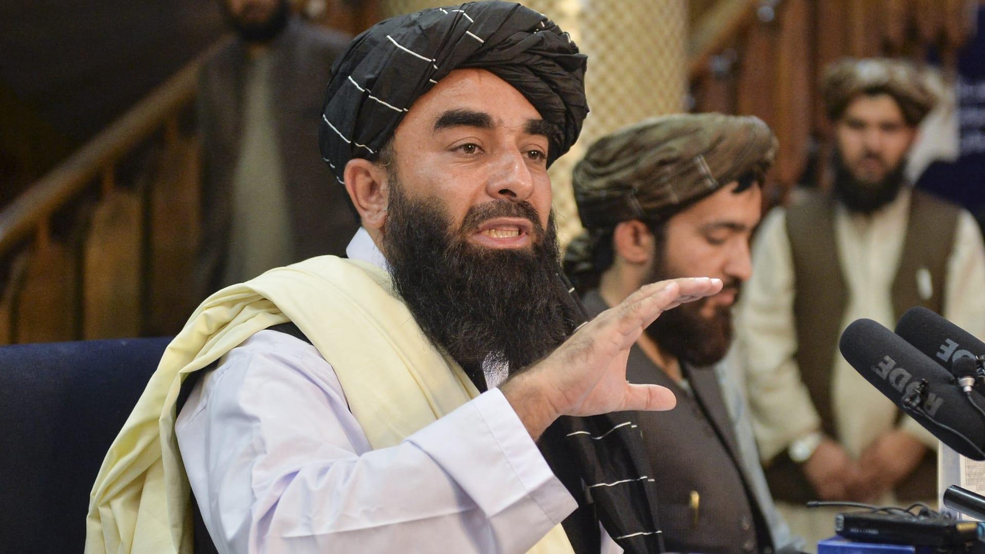 صورة أرشيفية للمتحدث باسم طالبان، ذبيح الله مجاهد