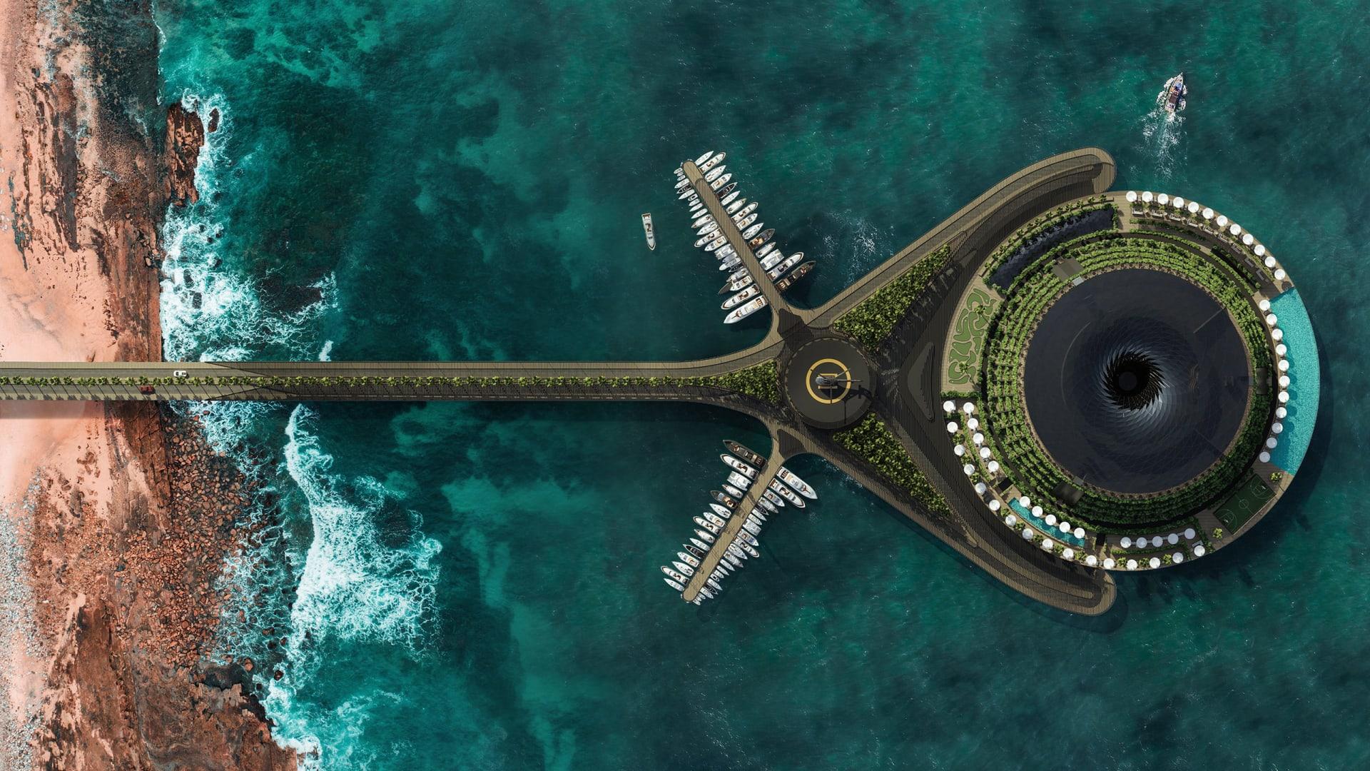 تصميم فندق عائم يولد الكهرباء الخاصة به يخطط لبنائه في قطر