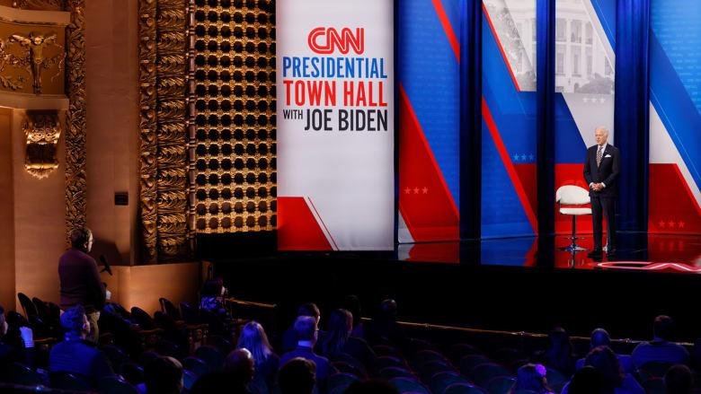 بايدن في لقاء مفتوح على CNN