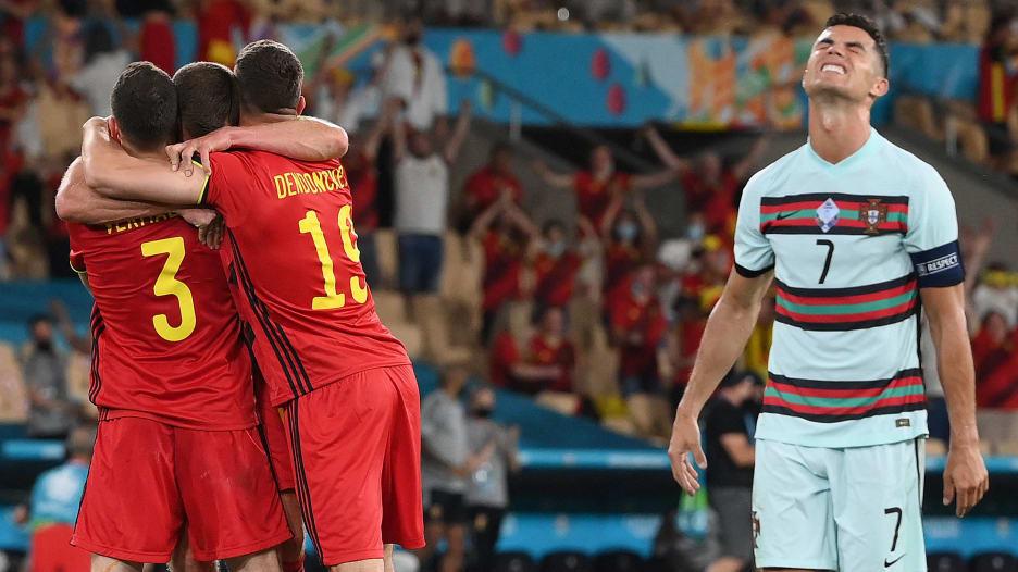 بلجيكا تُقصي البرتغال ورونالدو.. وعلامات استفهام حول برونو فيرنانديز