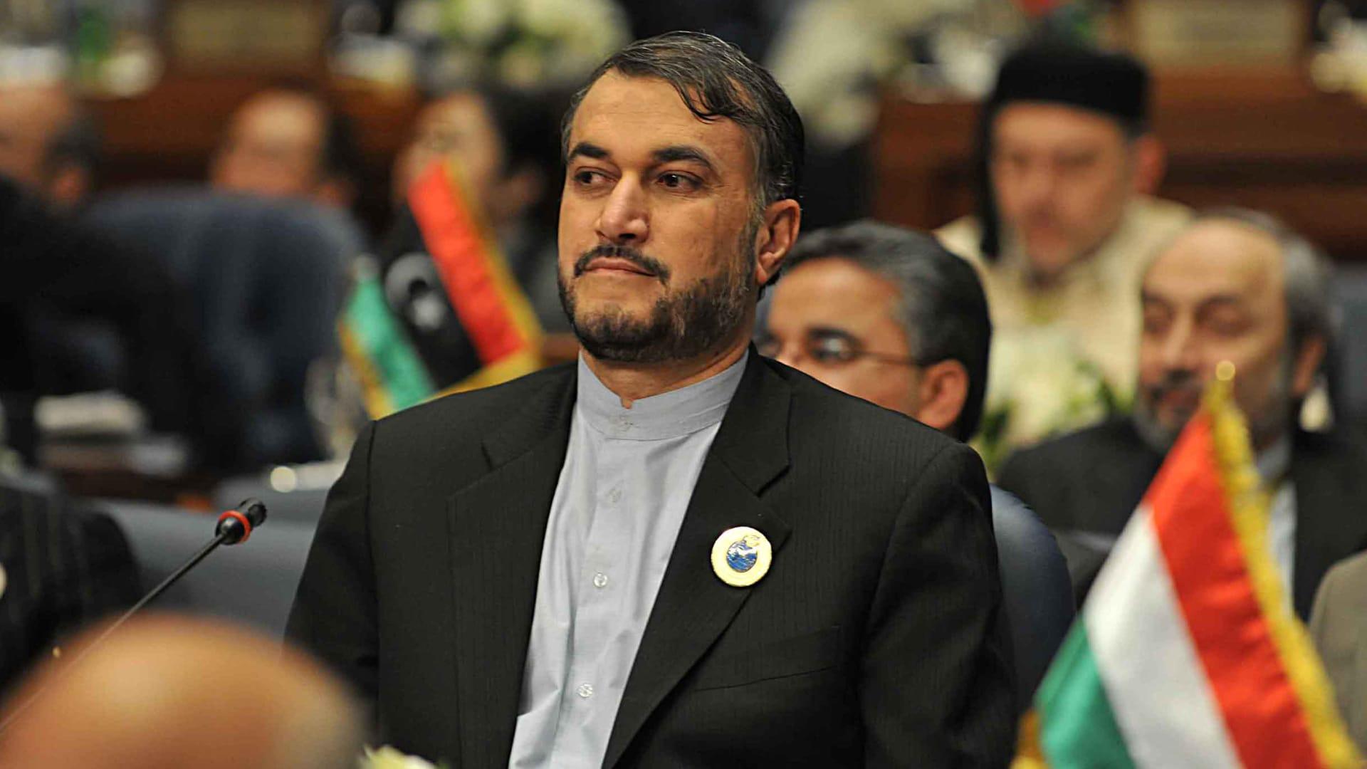 صورة ارشيفية لوزير الخارجية الإيراني حسين أمير عبداللهيان