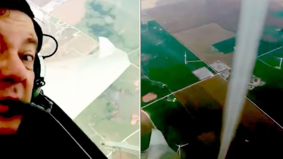 طيار يصور فيديو مذهل لإعصار حلّق بجانبه