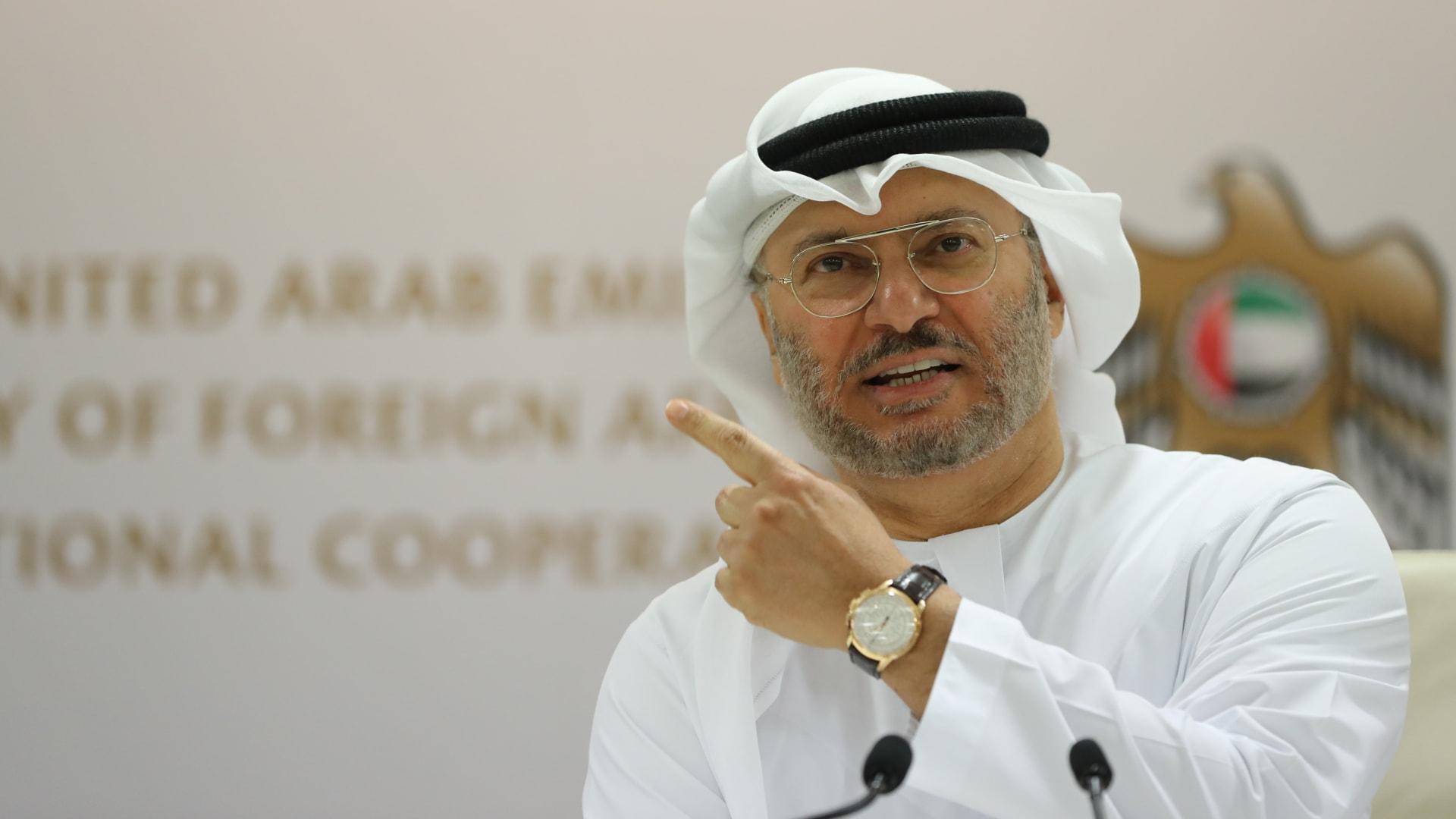 أنور قرقاش، المستشار الدبلوماسي لرئيس الإمارات