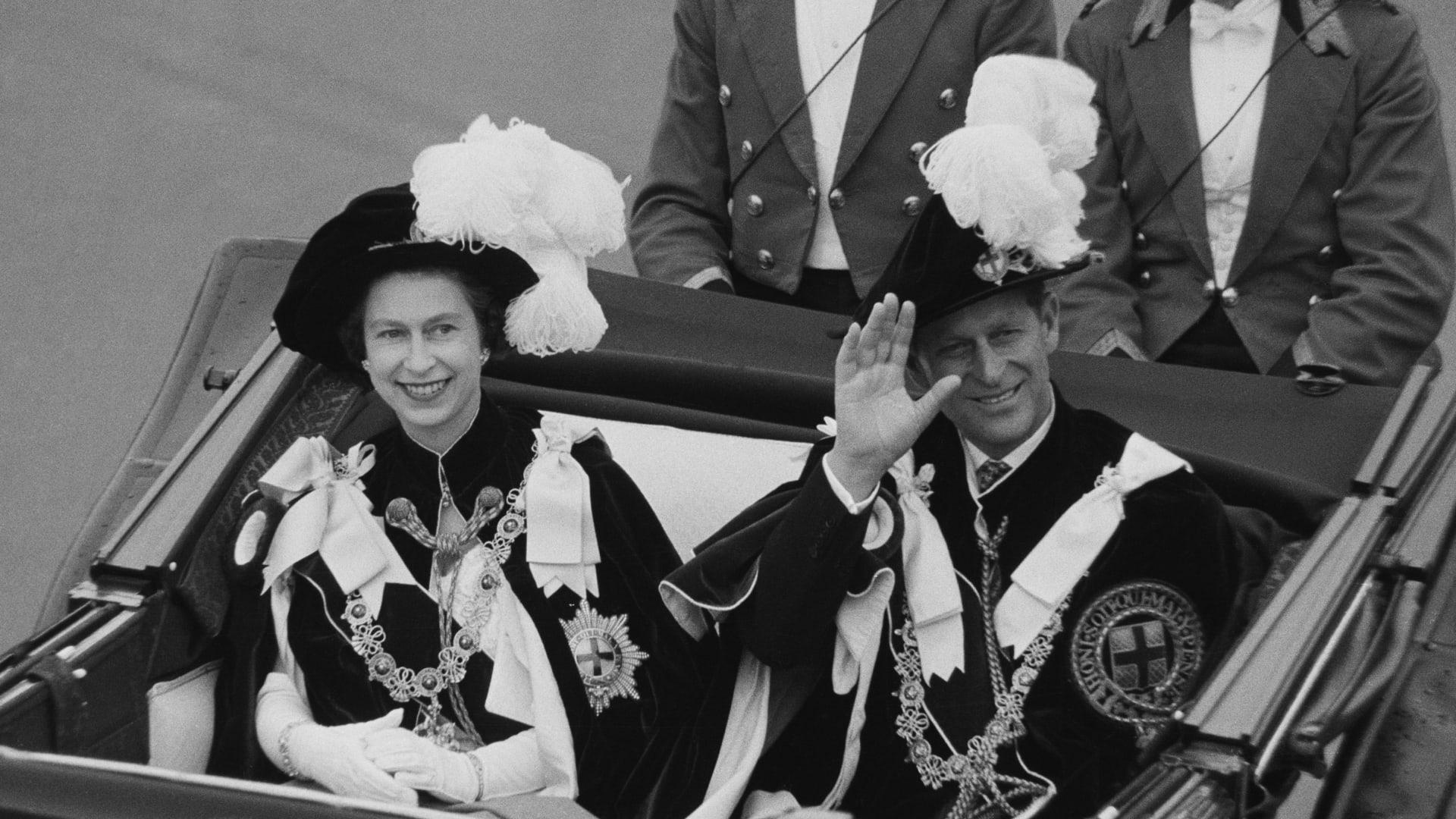 Prince Philip, Duke of Edinburgh and Queen Elizabeth
